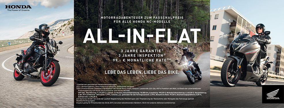 Motorradabenteuer zum Pauschalpreis All-in-Flat