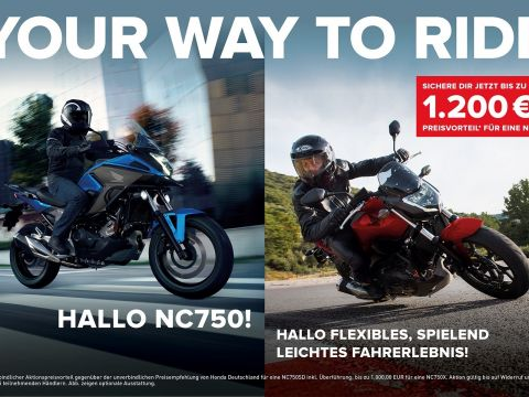 Your way to ride! Hallo Honda NC750!