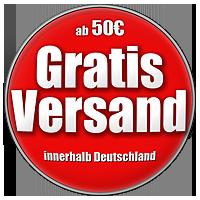 Ab einem Bestellwert von 50,- Euro liefern wir innerhalb Deutschlands versandkostenfrei.
