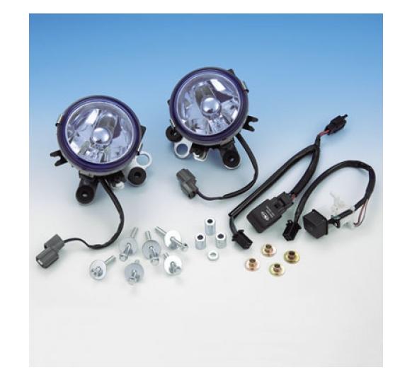 Big Bike Parts Nebelscheinwerfer Kit mit blauem Glas Goldwing GL1800 ABS /Airbag Kurvenscheinwerfer