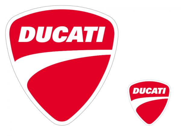 DUCATI Original LOGOS AUFKLEBER 987700759