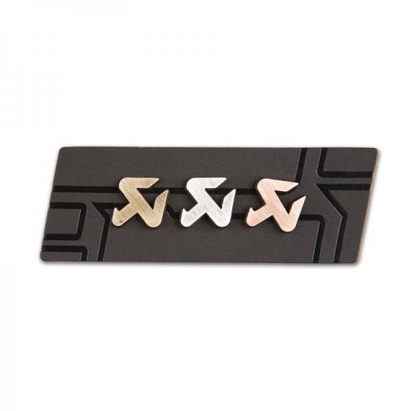 Cut copper/silver/brass pin set