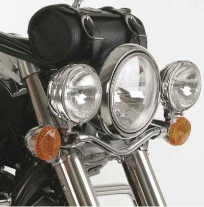 Hepco & Becker Metall Twinlight-Set Kawasaki VN 900 Classic / Vulcan schwarz