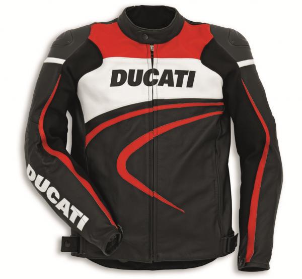 Ducati Original LEDERJACKE SPORT C2 Schwarz HERREN