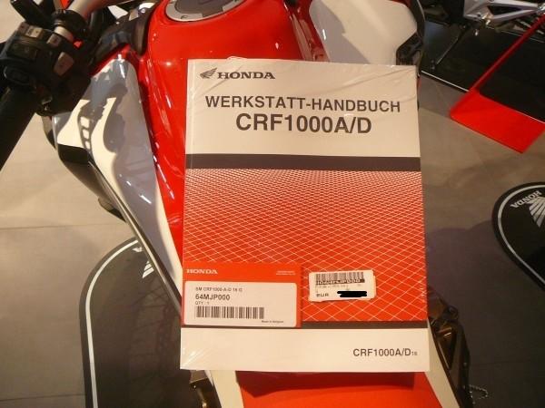Honda Original Werkstatt-Handbuch Manual SM CRF1000 A-D AFRICA TWIN 2016