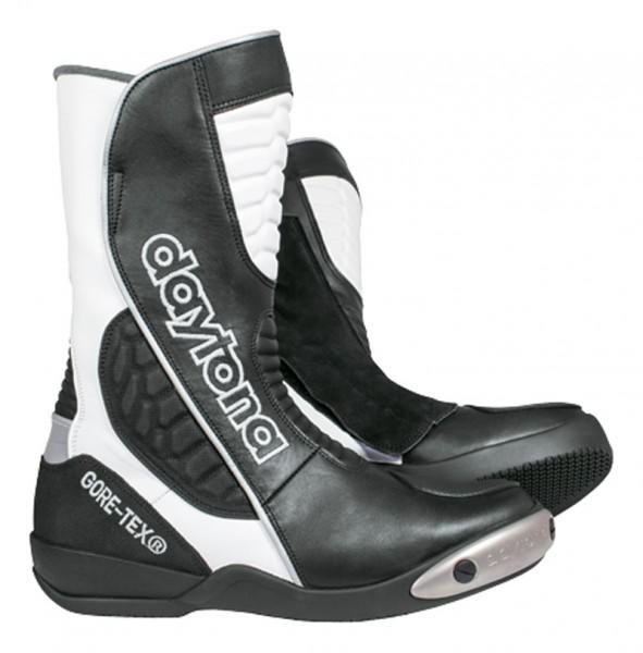 Daytona Lederstiefel Strive GTX schwarz-weiss