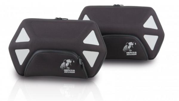 Hepco & Becker Seitentaschensatz Royster 22 ltr. mit schwarzem Reißverschluss für C-Bow Halter