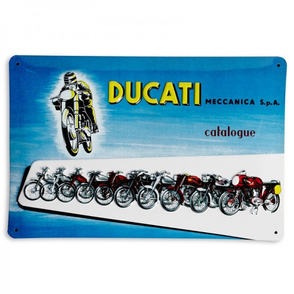 Ducati Metallschild Ducati Meccanica