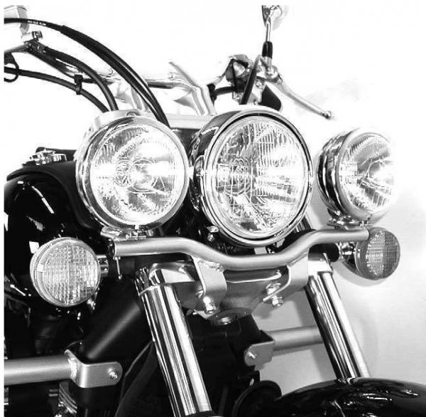 Hepco & Becker Twinlight Set Zusatzscheinwerfer Honda VT 750 Shadow Spirit chrom