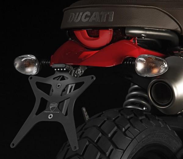 Ducati Original kurzer Kennzeichenhalter aus Aluminium für Scrambler 800