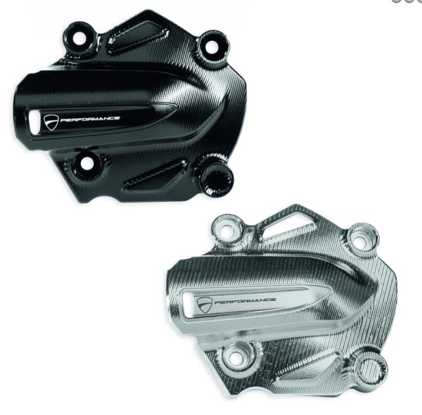 Ducati SATZ WASSERPUMPEN-COVER CNC SILBER