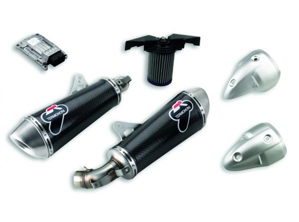 Ducati Original Racing-Schalldämpfer mit Außenrohr aus Kohlefaser Monster 696