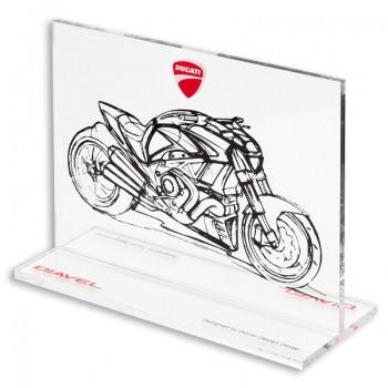Ducati Diavel memorabilia plexiglass