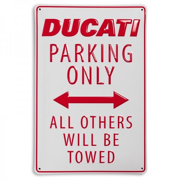 Ducati Metallschild Ducati Parking