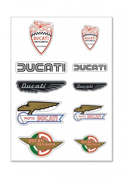 Ducati Aufkleber Historical mix