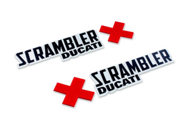 Ducati Original Satz Scrambler Urban Enduro Logos Tankaufkleber