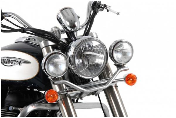 Hepco & Becker Metall Twinlight-Set Triumph Bonneville Amerika / Speedmaster ab Bj.2011 chrom