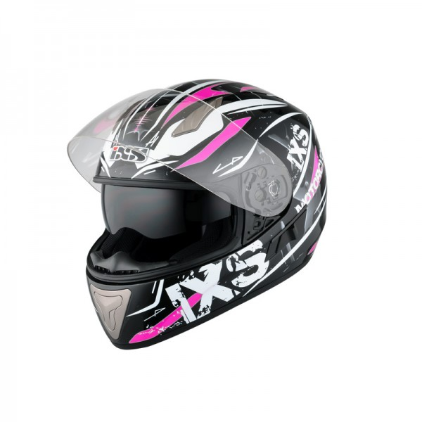 iXS Integralhlem HX 1000 Strike schwarz-weiss-pink-Copy