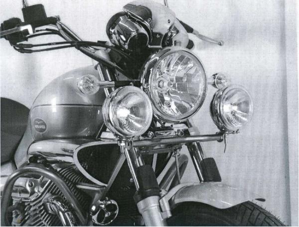 Hepco & Becker Metall Twinlight-Set Moto Guzzi Nevada Classic V 750 ie ab Bj.04/Aquilia Nera chrom