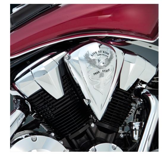Big Bike Parts Luftfilter Abdeckung Free Spirit verchromt VT 1300