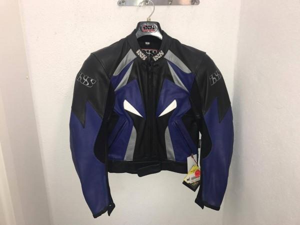 iXS IXS Damen Motorrad Lederjacke CORVAIR Leder Jacke sw/blau Gr. 42