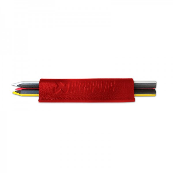 Leather Crayons case - red