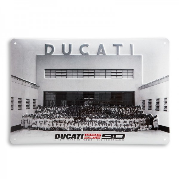 Ducati Metallschild Anniversary