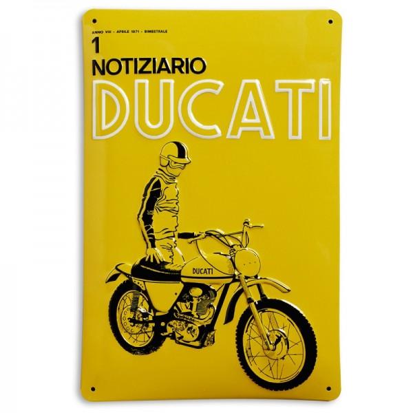 Ducati Metallschild Notiziario Ducati