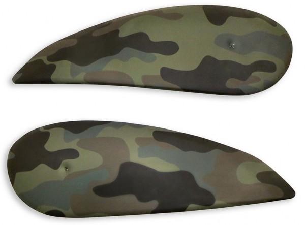 Ducati Satz seitliche Tankverkleidungsschalen Camouflage für Scrambler 800