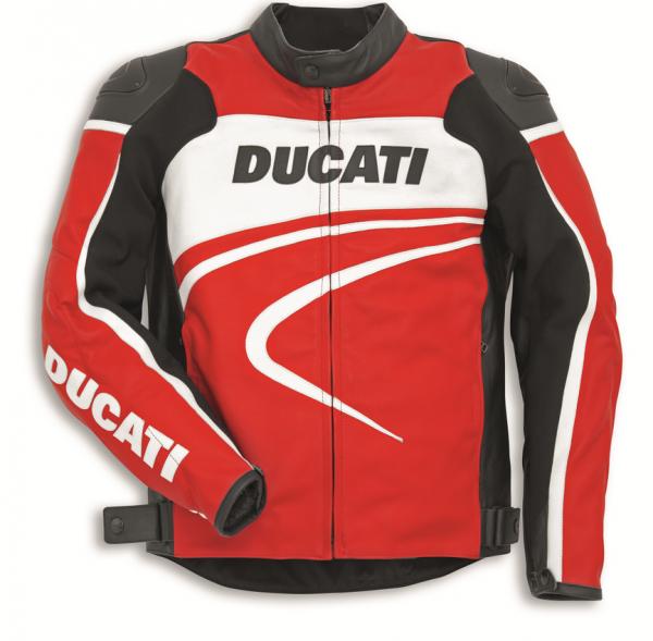 Ducati Original LEDERJACKE SPORT C2 ROT HERREN