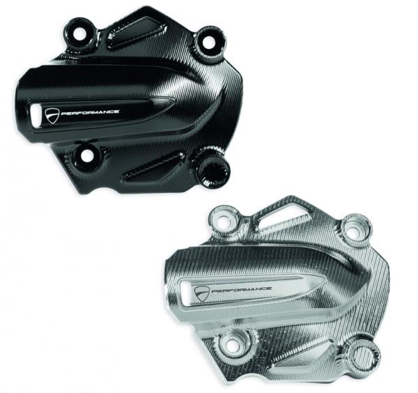 Ducati Original WASSERPUMPEN DECKEL ALUMINIUM CNC BLACK