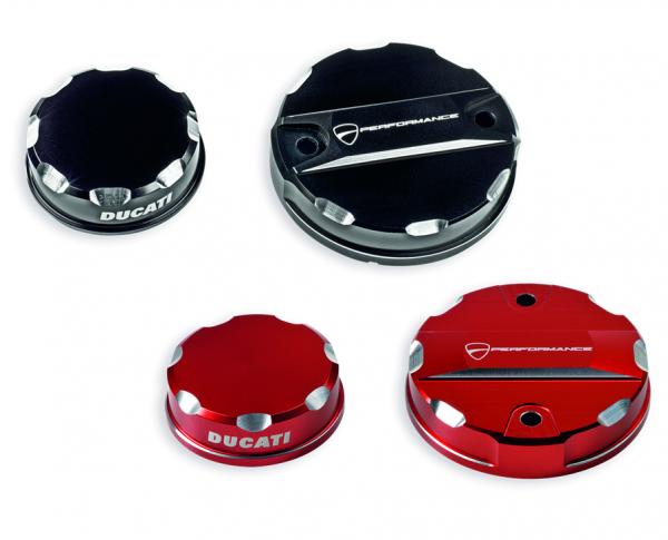 Ducati Original Abdeckungen Rot für Brems- und Kupplungsflüssigkeitsbehälter SupersportS/ Multistrad