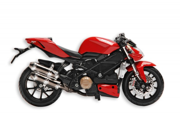 Ducati Motorrad Sammlermodell Standmodell Streetfighter von Maisto 1:18