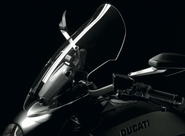 Ducati Original Windschutzscheibe aus Plexglas Gran Turismo für Diavel
