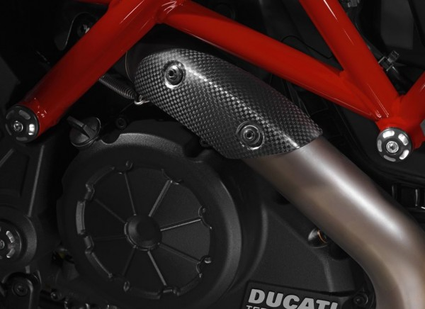 Ducati Original Wärmeschutz aus Kohlefaser für Diavel