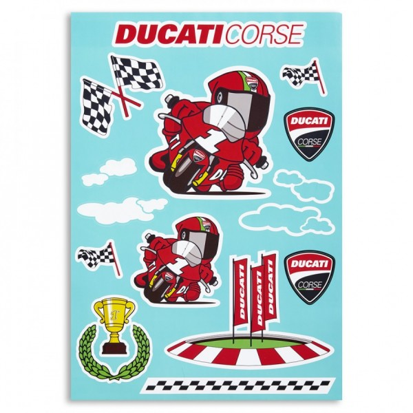 Ducati Deko-Aufkleber Cartoon