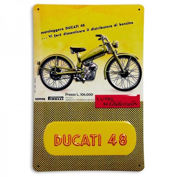 Ducati Metallschild Ducati 48