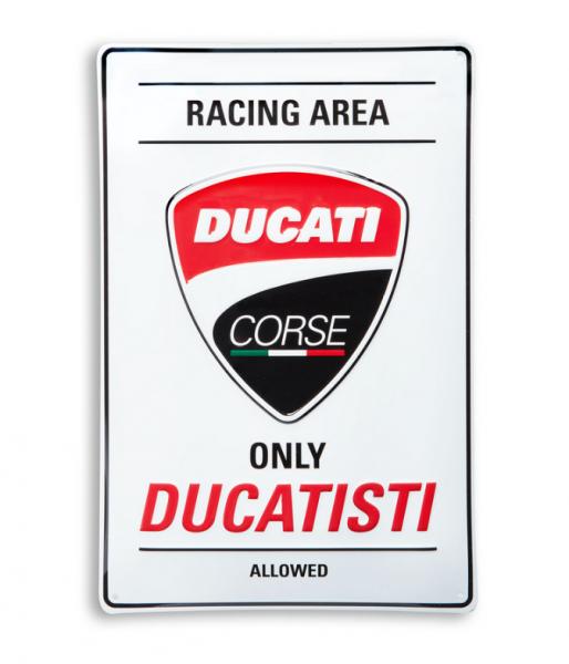 DUCATI Original CORSE Metallschild