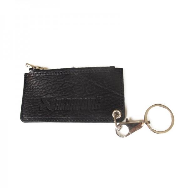 Leather Zip Keychain - black