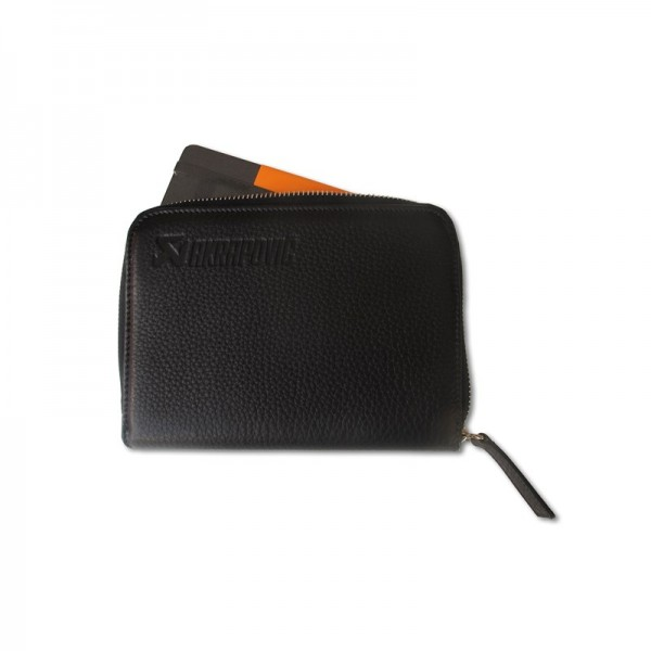 Leather Zip Notebook (M) black