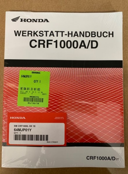 Honda Original Werkstatt-Handbuch CRF1000A/D Africa Twin ab Baujahr 2017 -