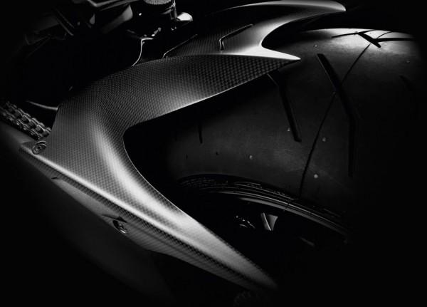 Ducati Original Hinterer Kotflügel aus Kohlefaser für Diavel