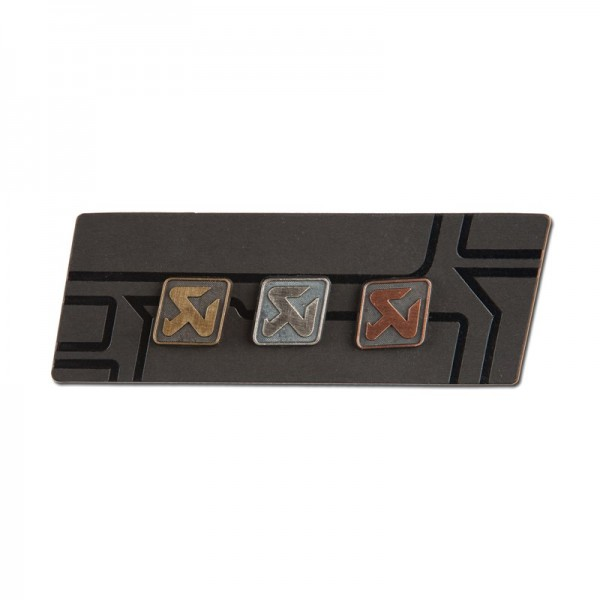 Copper/silver/brass pin set - medium