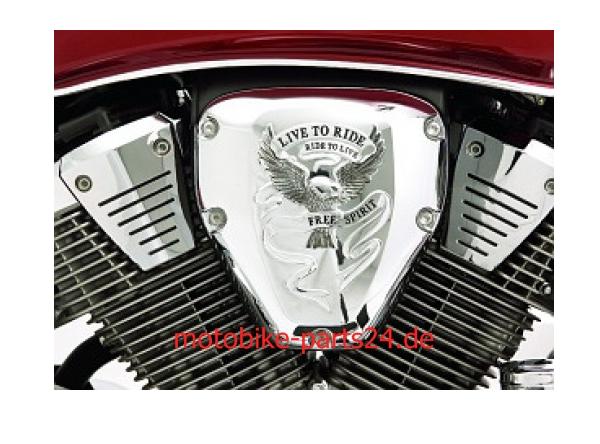 Big Bike Parts Luftfilter Abdeckung verchromt Free Spirit VTX 1300/1800