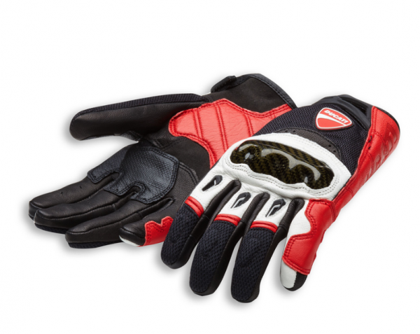 Ducati Original HANDSCHUHE COMPANY C1 Rot/Schwarz/Weiß