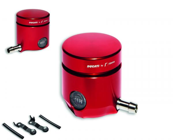 Ducati Rizoma Brems- & Kupplungsflüssigkeitsbehälter Rot Set Panigale