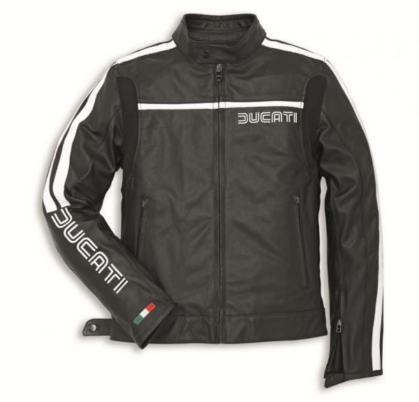 Ducati Original LEDERJACKE 80S 14 schwarz Herren