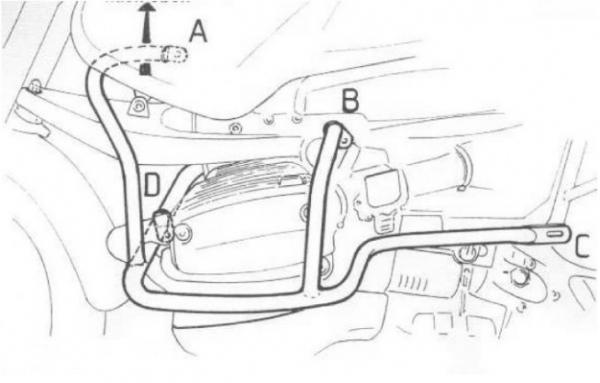 Hepco & Becker Metall Motorschutzbügel BMW R 1150 GS / Adventure schwarz