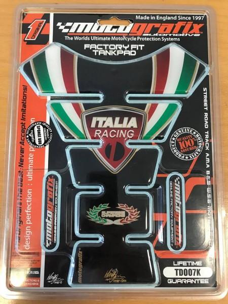 Motografix MG Tankpad Ducati Italia Racing schwarz