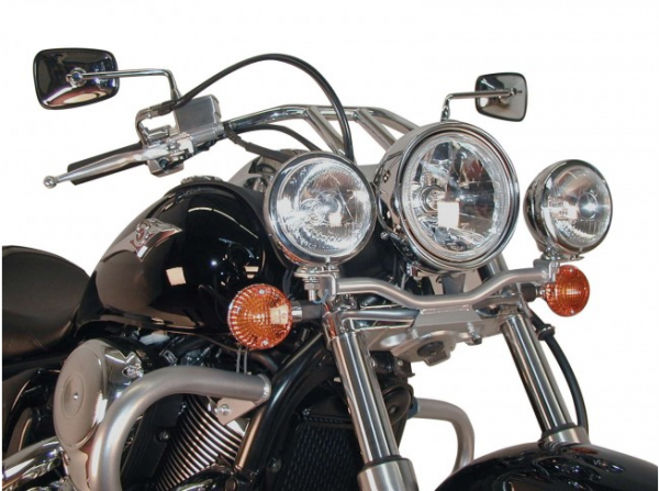 Hepco & Becker Metall Twinlight-Set Kawasaki VN 900 Custom / Vulcan chrom